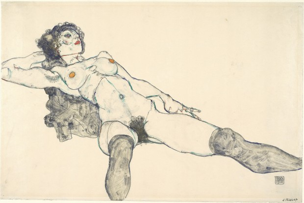 Desnudo femenino con las piernas abiertas