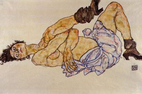 Desnudo femenino reclinado, 1908.