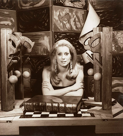 Catherine Deneuve, 1968 by Man Ray