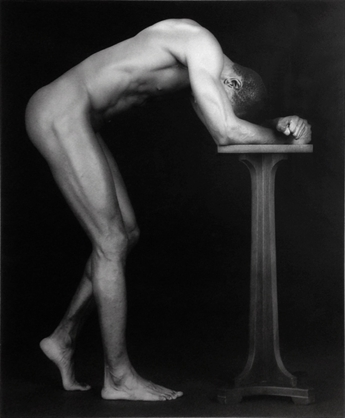 robert-mapplethorpe-thomas-with-pedestal-photographs-silver-print