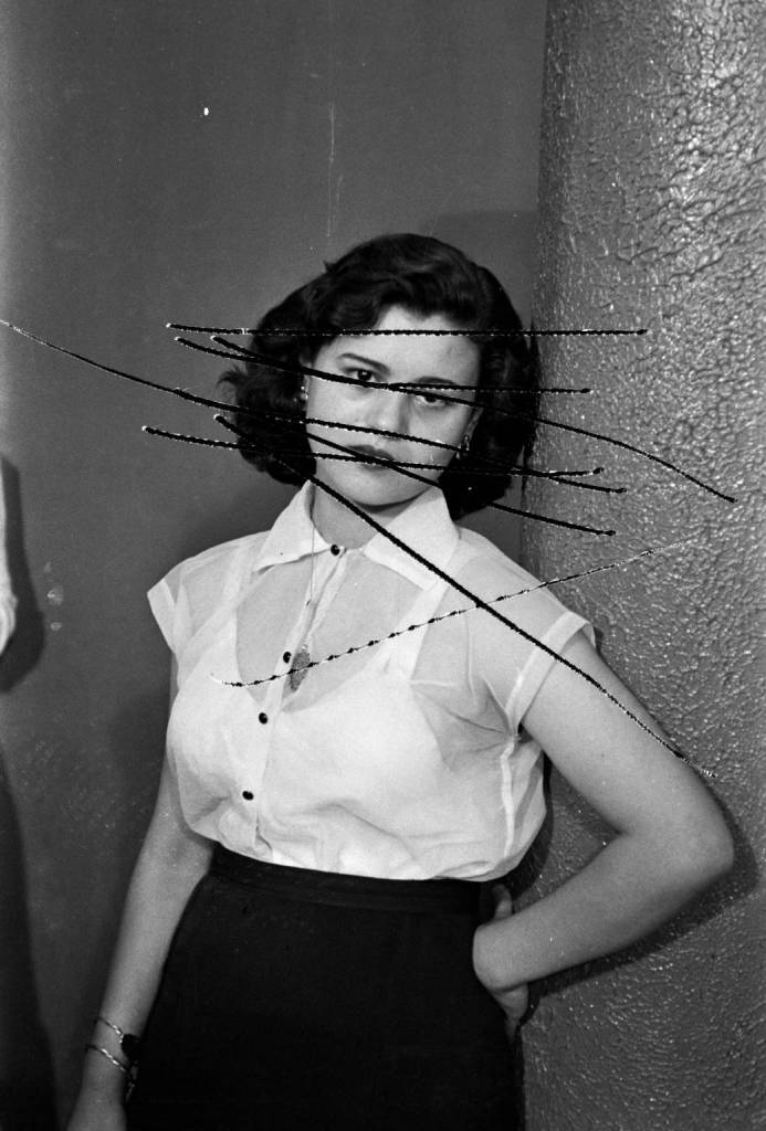 Baqari's wife. Studio Shehrazade, Saida, Lebanon, 1957. Hashem el Madani 2007 by Akram Zaatari born 1966