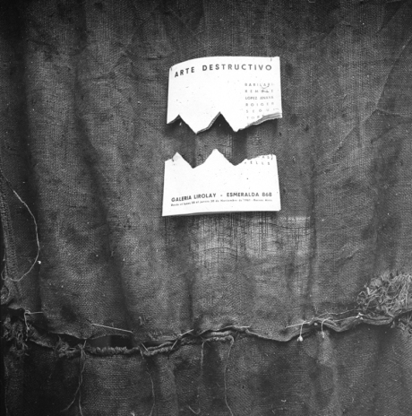 Exposición Colectiva Arte Destructivo. Galería Lirolay, 1961. Cortesía Malba - Fundación Costantini