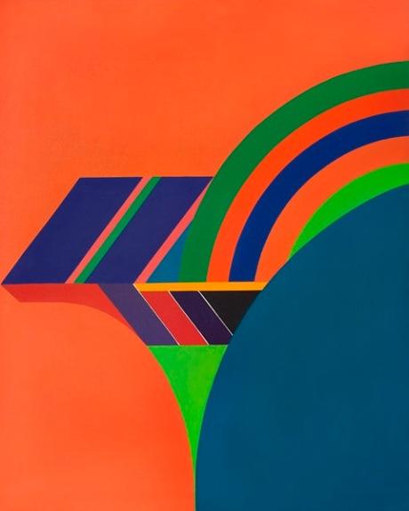 SAKAI Kazuya. Miles Davis. Bi tches Brew (III), 1973, acrílico sobre tela cruda, 150 x 120 cm. colección particular