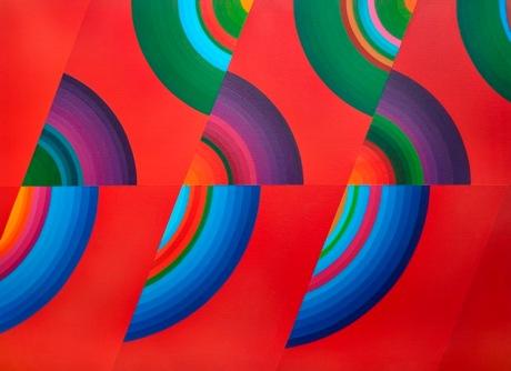 SAKAI Kazuya. Secuencia, 1979, acrílico sobre tela, 126,4 x 91,5 x 4 cm., colección particular