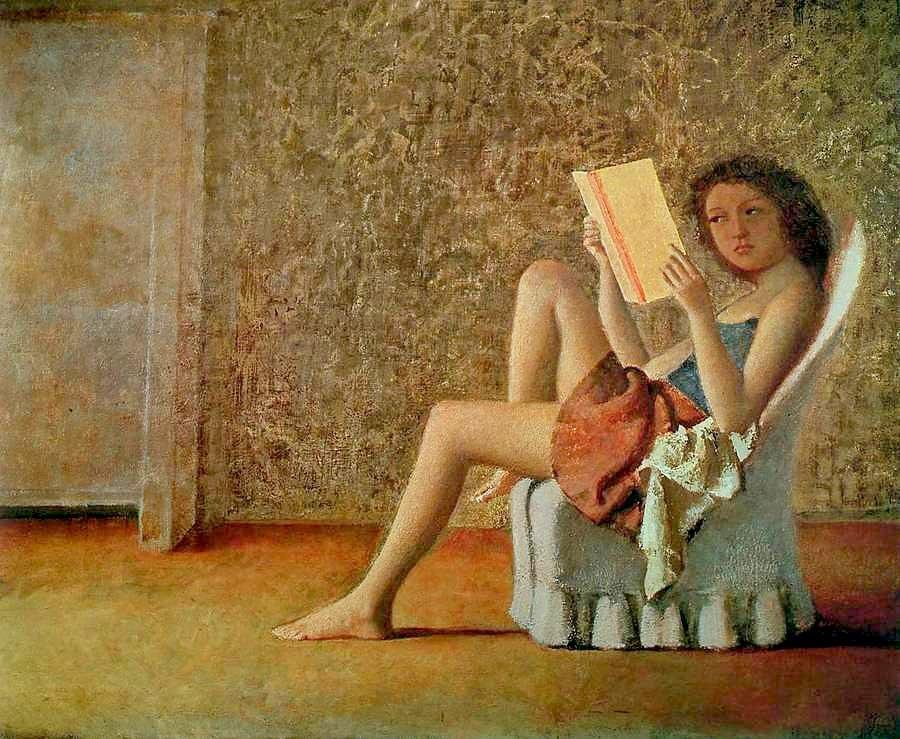 Balthus (1908-2001) Katia lisant