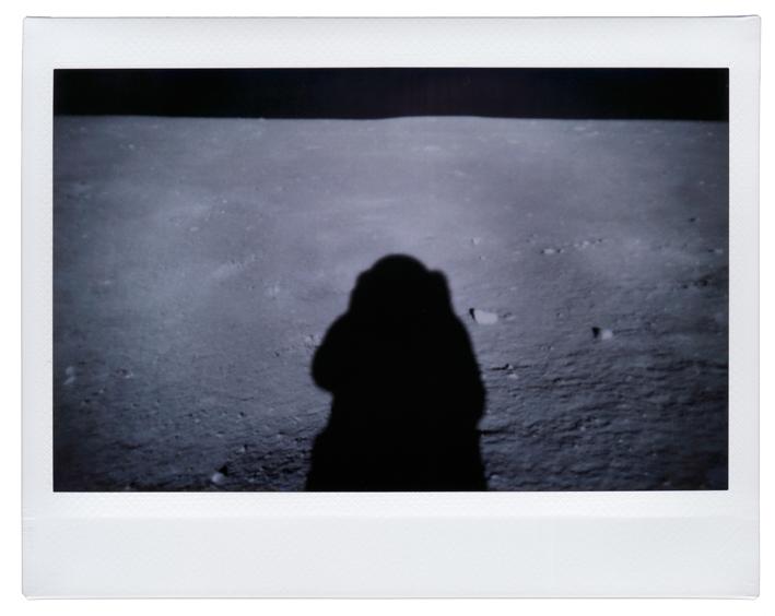 Buzz Aldrin's shadow Moon)