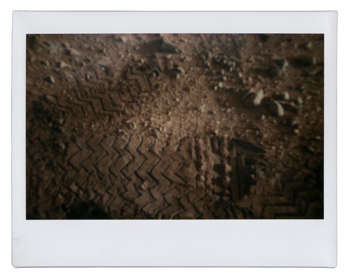 Wheel track left by the rover Mars