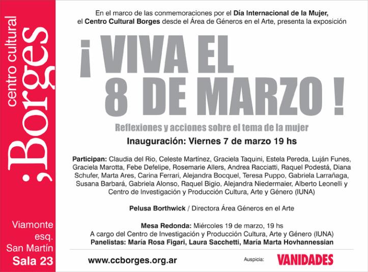 Viva el 8 de Marzo - invitación