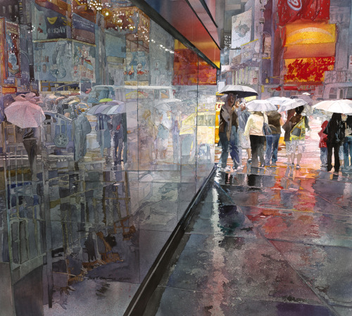 Rainy Day, Times Square