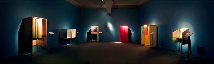 GUILLAUME BIJL, stemhokkenmuseum (voting  booth museum), 2000-2008, instalación